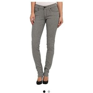 Levis 524 striped skinny jeans